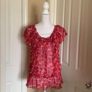 Express chiffon flower blouse